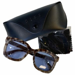 DIFF Carson Mocha Tortoise Sunglasses
